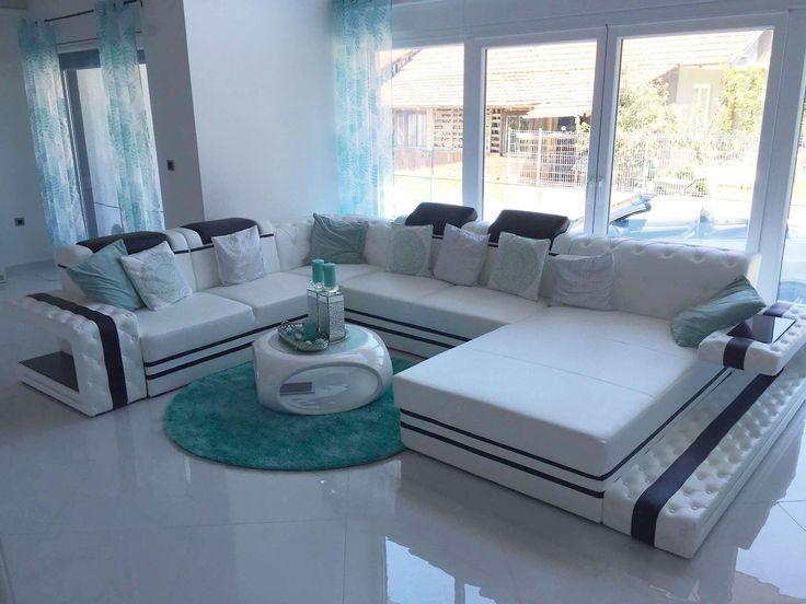 Designer Sofa IMPERIAL XXL Mit LED Beleuchtung Sehr Geschmackvoll Gewählt  Und Gestalltet, Die Neue Wohnung