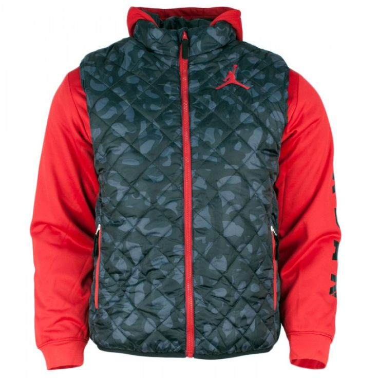 The Air Jordan Kids Camo Puffy Jacket is available now for