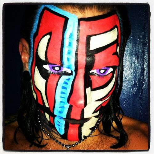 Jeff Hardy  Face Paint Jeff Hardy Face Paint  Wwe Tna  Wwe Stuff    Jeff Hardy Face Paint Red