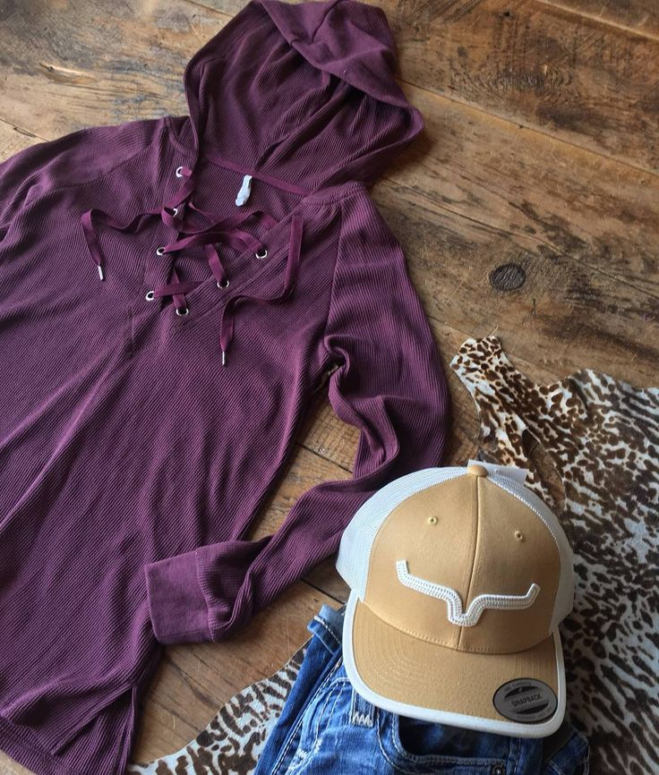 Thermal hoodies and your favorite Kimes Ranch cap. We got y'all ready for fall! #longhorncattle #ranchstyle #newarrival #fallfashion #savannah7s