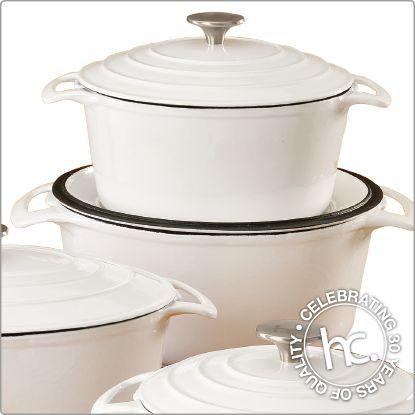 Premier white cast iron cookware