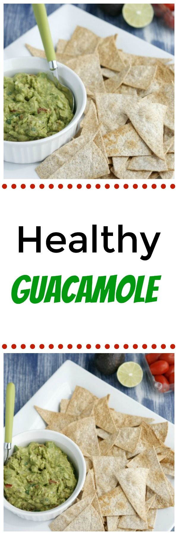 I could live off of guacamole! This version is full of flavour and also very healthy! Serve with pita chips for a healthier option.