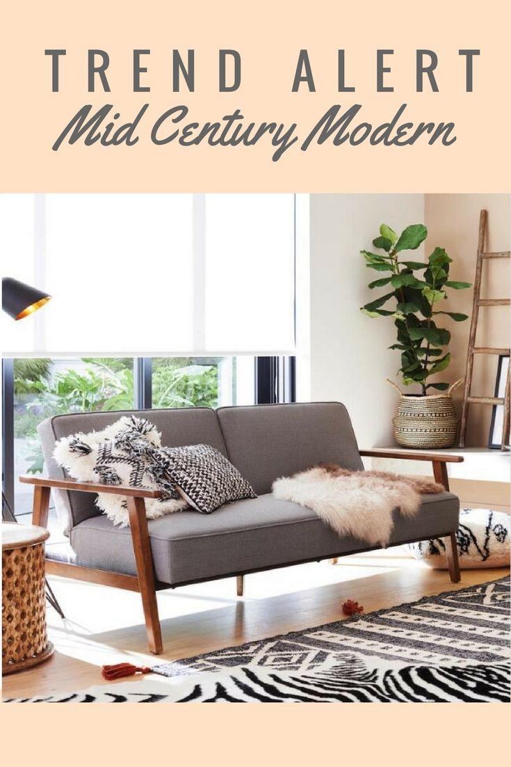 Mid Century Modern Convertible Loveseat #contemporarysofa #midcenturysofa #midcenturymodern #retro #livingroomideas #ad