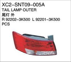 XC2-SNT09-005A Tail lamp outer R92202-3K500  L92201-3K500 PCS Auto Parts,car body parts,head lamp,fog lamp,tail lamp,bumper,hood,side mirror replacement http://www.jsxcauto.com/