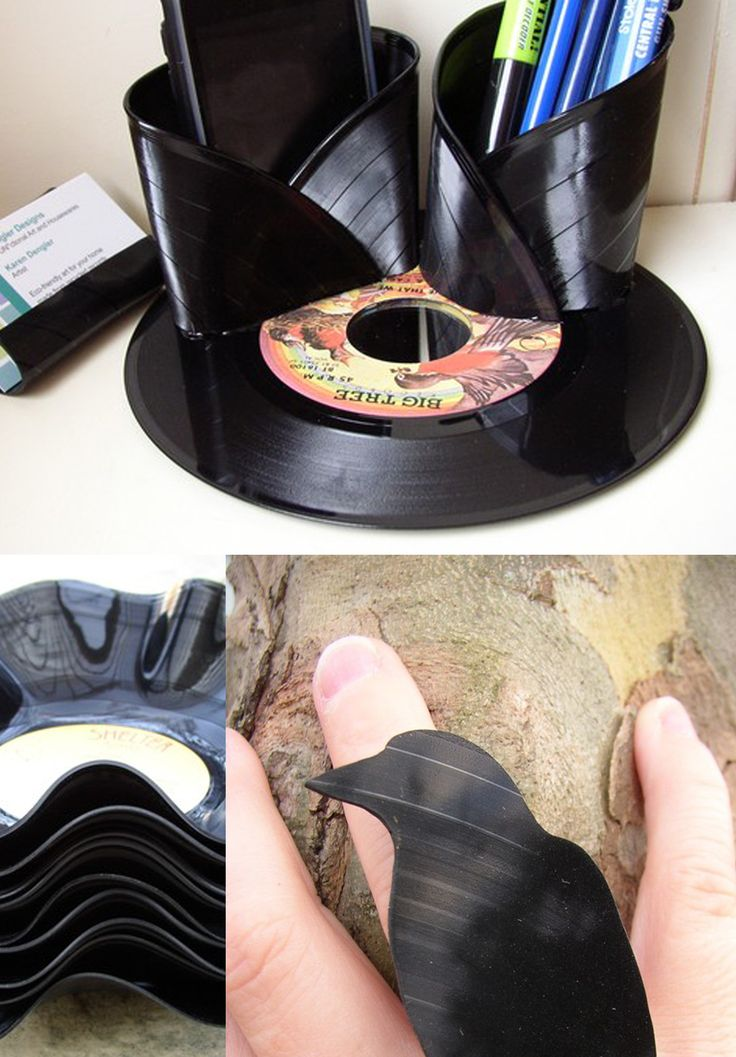 Old Records Turned Wine Holder | Trashy Crafter's Blog