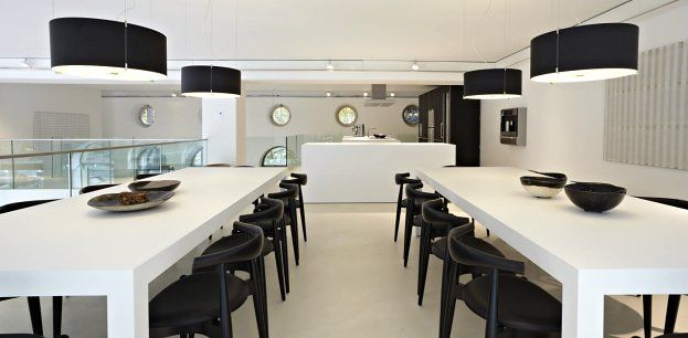 #Cpl suspension lamps at Bulthaup showroom in Munich  www.prandina.it