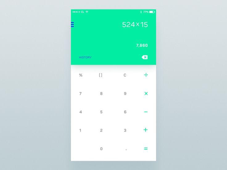 Daily UI #004 - Calculator by Andriy Yurchenko