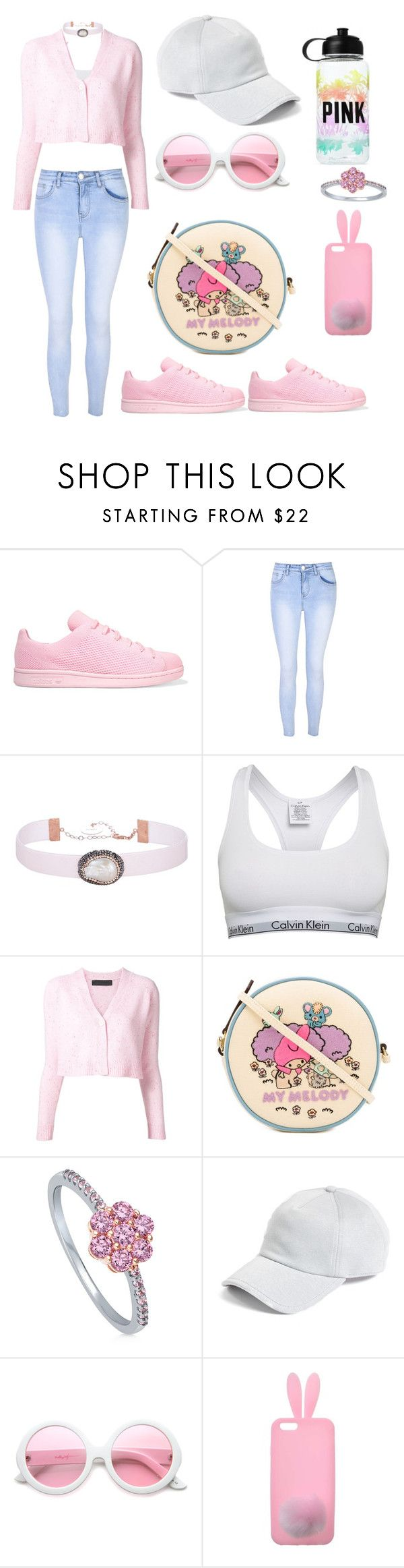 """Untitled #847"" by dbellz ❤ liked on Polyvore featuring adidas Originals, Glamorous, Soru Jewellery, Calvin Klein, The Elder Statesman, Olympia Le-Tan, BERRICLE, rag & bone, ZeroUV and Victoria's Secret"