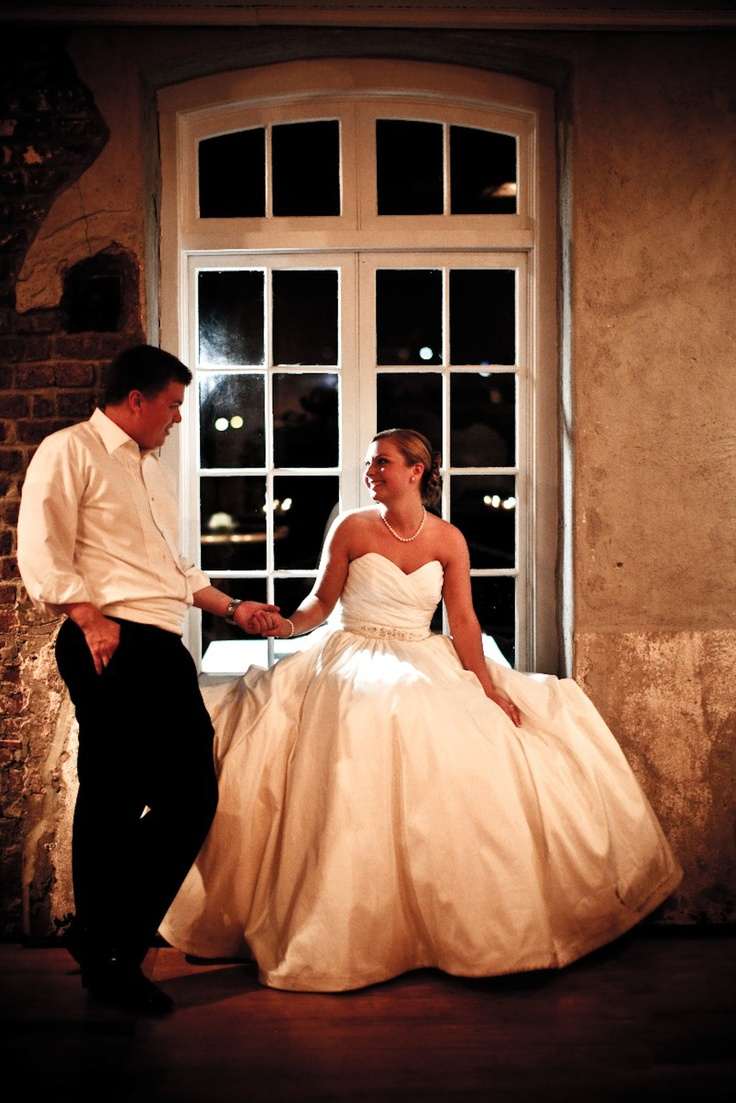 Fairy tale wedding at the Historic Rice Mill Building.  #weddings, #Charleston,SC, #event, #venue