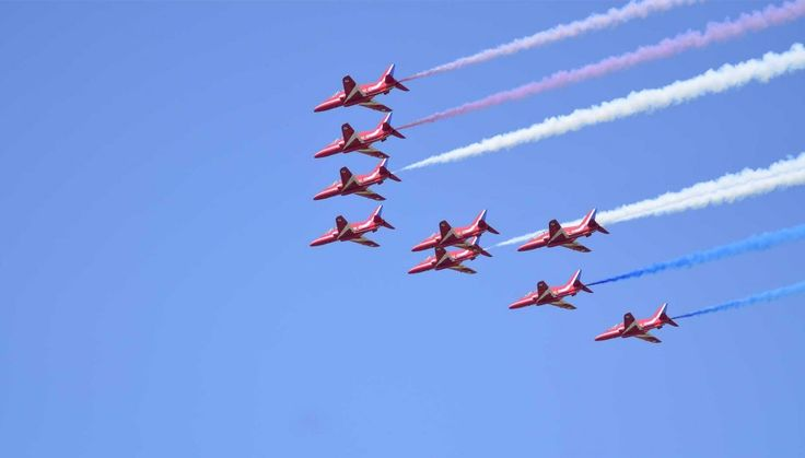 The Red Arrows put on an amazing display at the 2013 Lincolnshire Show