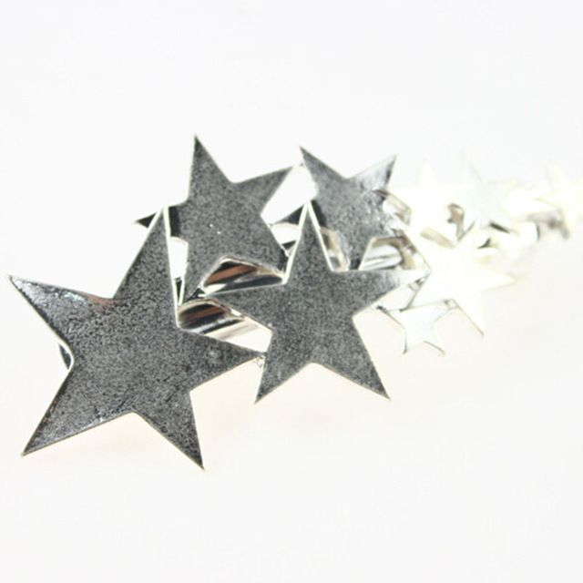 Mujeres Boho Moda Godness Estrellas de Plata Cuff Clip Del Pelo Venda de La Horquilla de Accesorios Para Niñas 2016 ew caliente