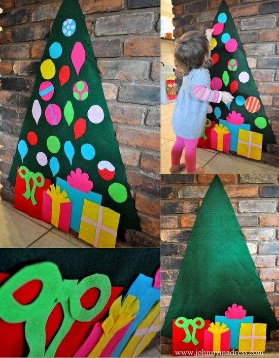 árbol de navidad en fieltro: http://www.manualidadesinfantiles.org/arbol-de-navidad-en-fieltro