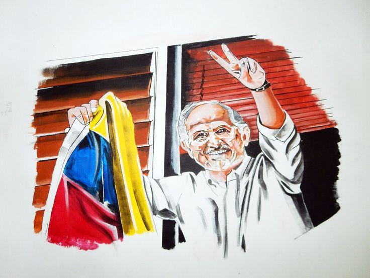 #Caricatura del #AlcaldeMetropolitano de #Caracas #Venezuela #AntonioLedezma #PerseguidoPolítico ahora en #Madrid #España; luego de su #Fuga de #Venezuela; se entrvisto por más de 3 horas con Rajoy #PresidenteDelGobierno del #ReinoDeEspaña ||| Más detalles en #Twitter ||| #Noticias sobre Antonio #Ledezma en Twitter