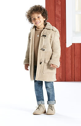 Gucci Shearling montgomery coat with interlocking g skinny jean