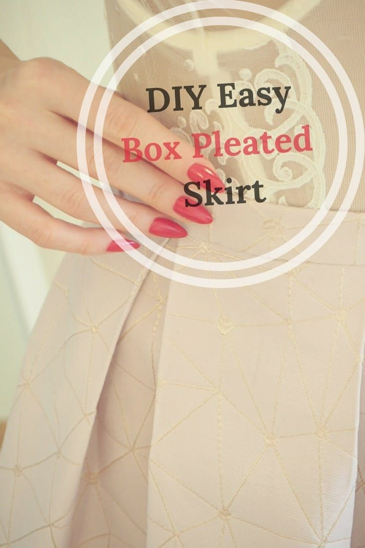 DIY Easy Box Pleated Skirt - Free sewing tutorial for women, Easy sewing tutorial for beginners, DIY Skirt,   #FaveCrafter