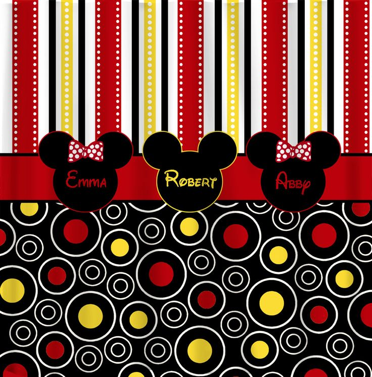 Delightful Personalized Custom Shower Curtains In Mickey Minnie By Redbeauty, $78.00