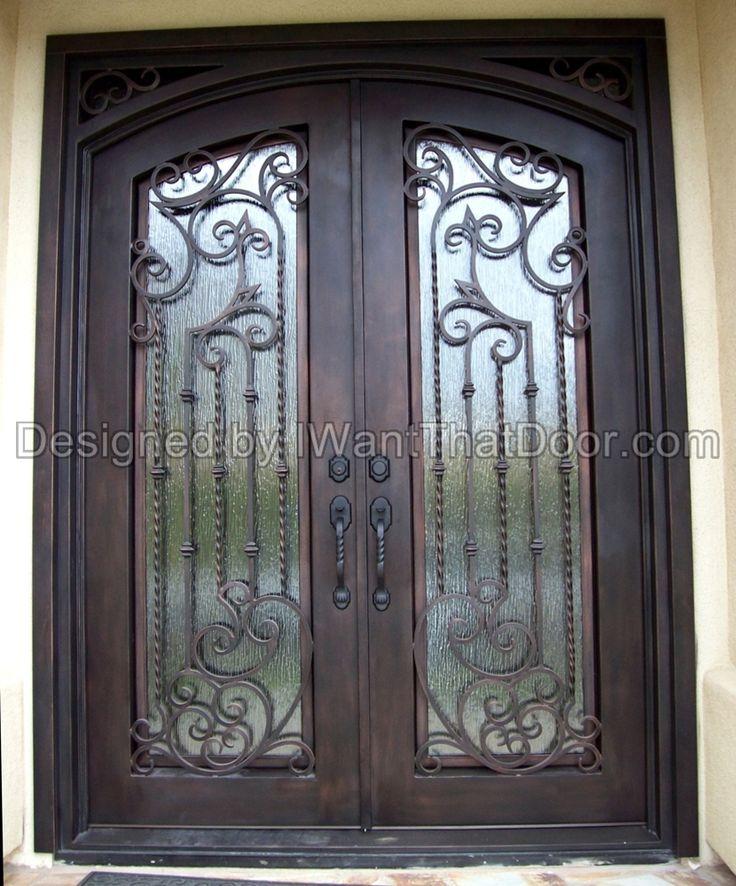 Tampa double iron door with eyebrow top