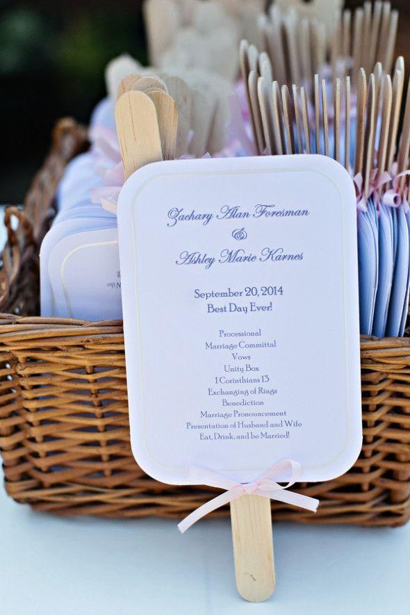 Fan Wedding Programs, for a hot summer wedding.