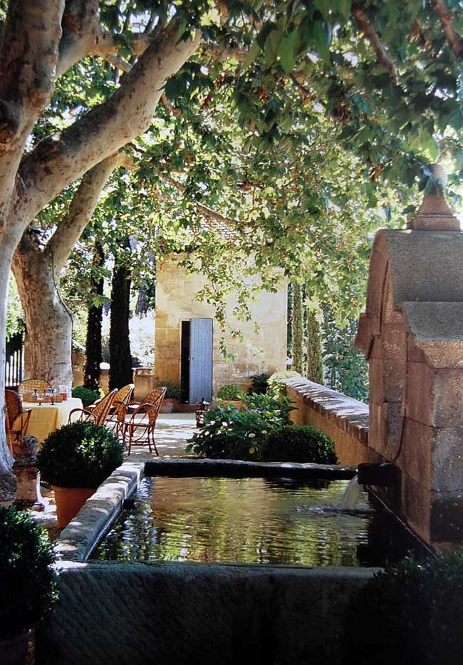 love!  Provence Style of Living/Jerome Coignard  oh we need a trickling fountain, low key. we will make one!!
