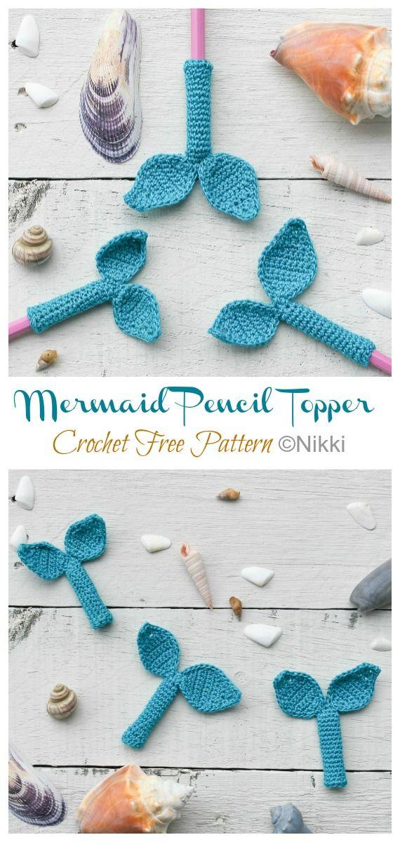 Free Christmas Gifts 2020 Pencils Mermaid Pencil Topper Crochet Free Pattern   Crochet & Knitting in