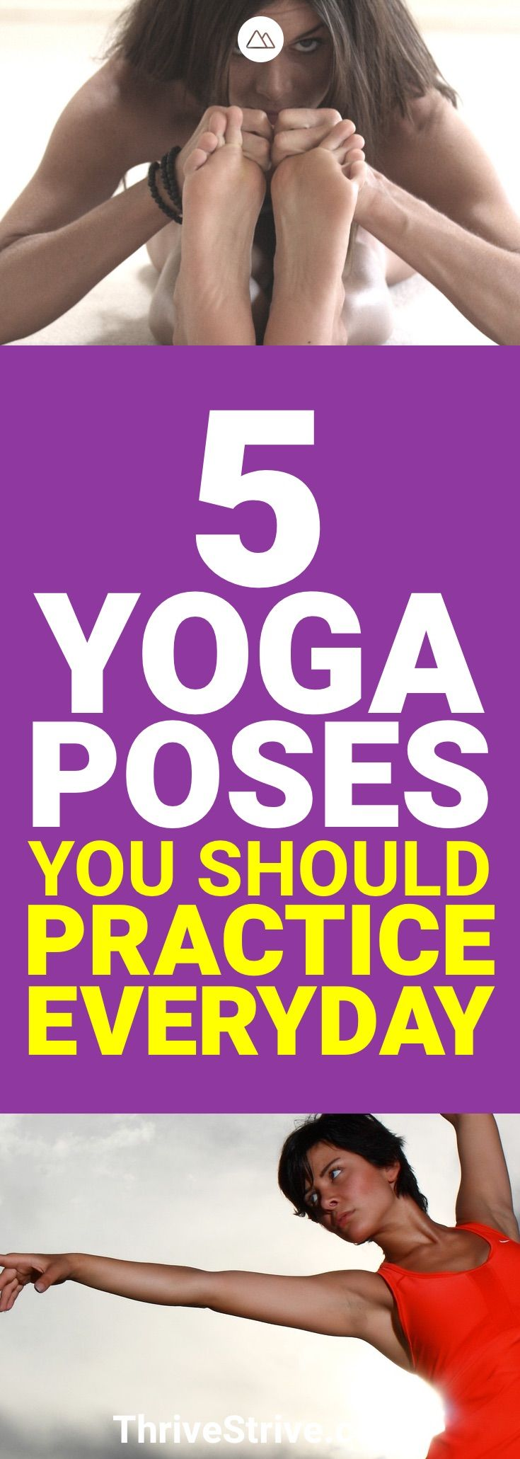 Want to practice yoga daily? These are 5 yoga poses that I've found really help ...