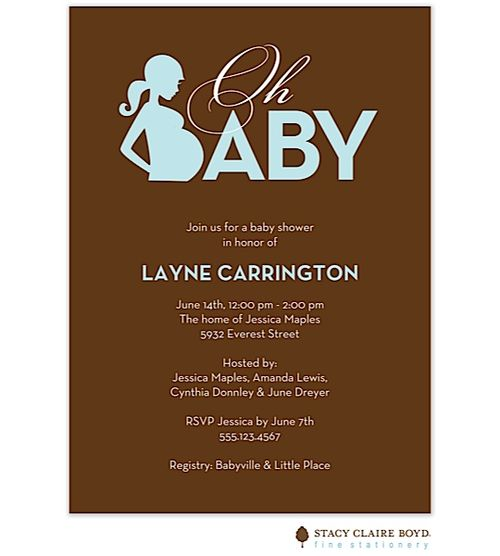 African American Boy Baby Shower Invitations Blue