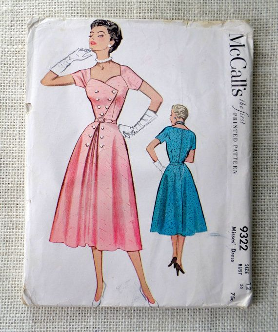 Vintage Pattern McCall's 9322 1950s by momandpopcultureshop