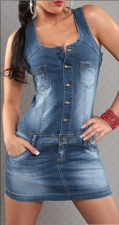 Aliexpress.com: Comprar 2015 vestido del estilo del verano vestidos las mujeres jeans denim vaina sin mangas del o cuello solid mini señora mujer vestidos de Vestidos fiable proveedores en lady boutique paradise