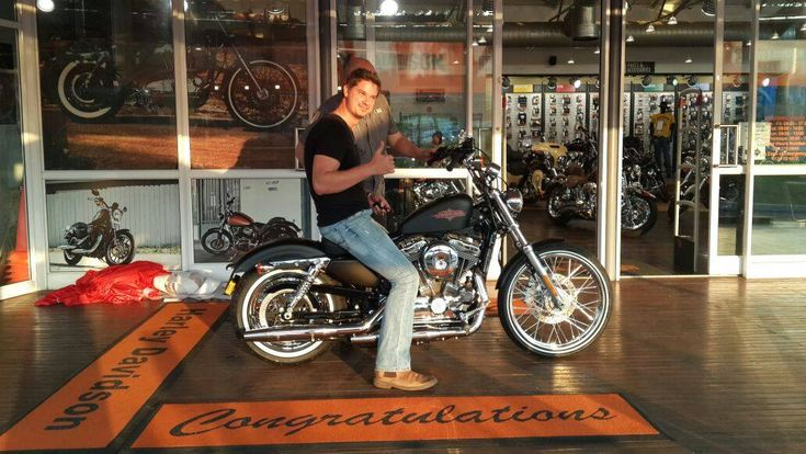Congratulations GREG!! You will be a hit on your new Sportster Seventy-Two. Welcome to the HOG family and enjoy the open road with us, it's calling!