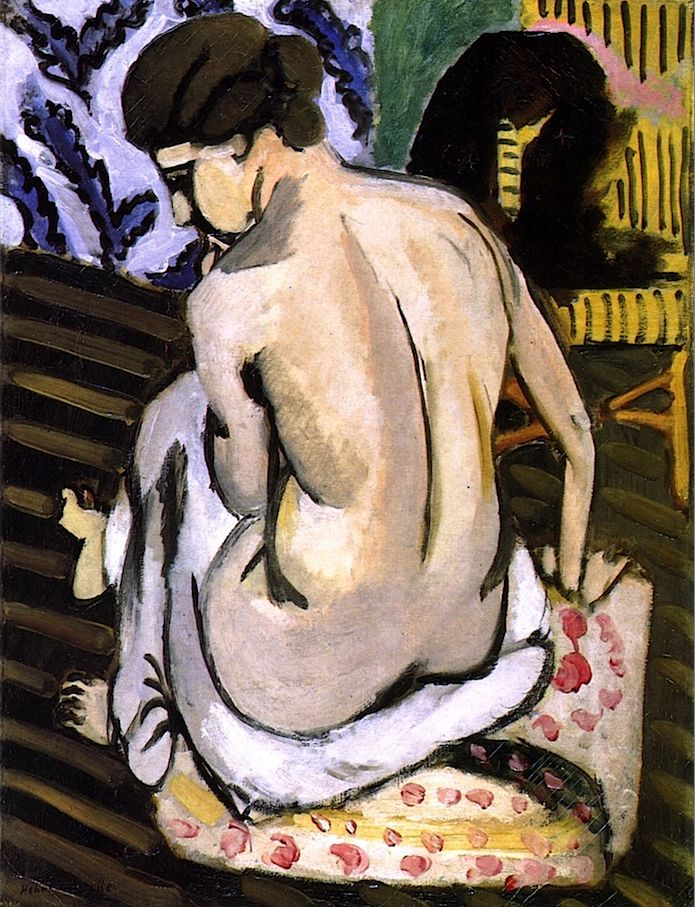 Seated Nude with Back Turned by Henri Matisse, circa 1917