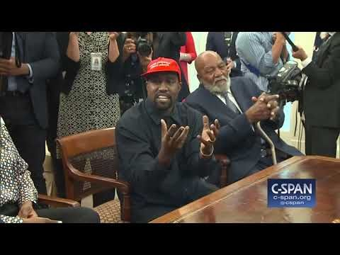Kanye West In The Oval Office With President Trump C Span Women Humor Us Politics Kanye West