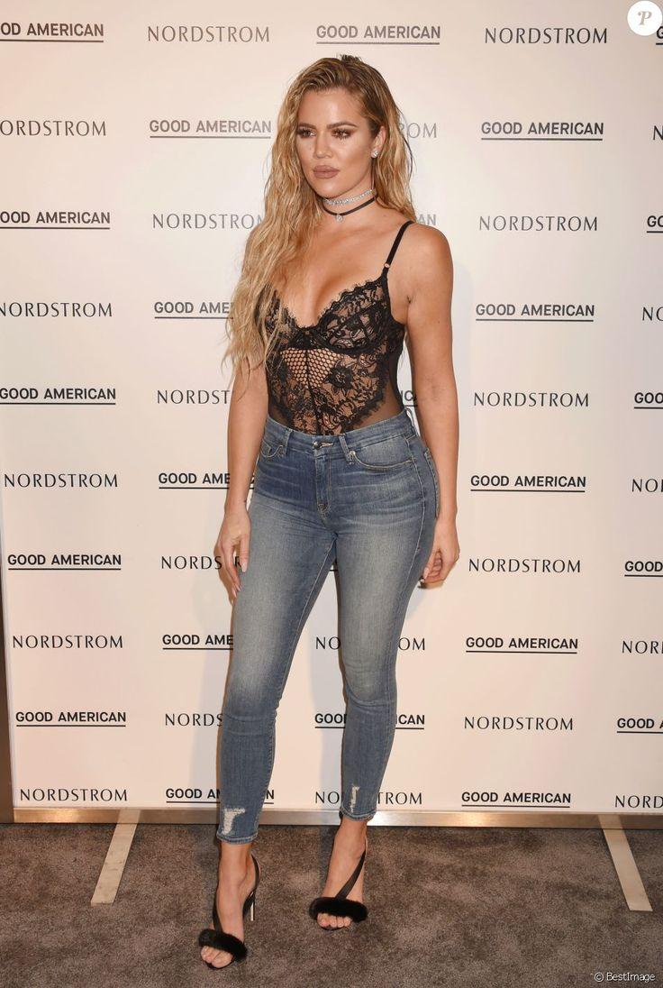 """Khloe Kardashian - Khloe Kardashian au lancement de sa nouvelle ligne de jeans baptisée """"Good American"""" dans la boutique Nordstrom à Los Angeles, le 18 octobre 2016."""