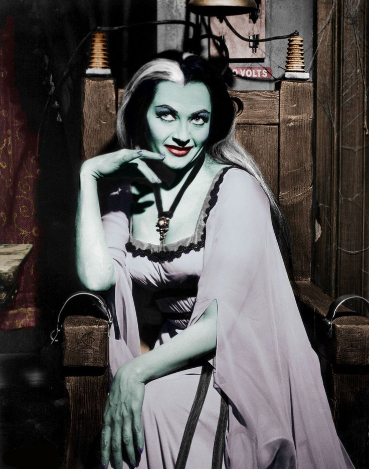 lily munster yvonne decarlo the munsters - Munsters Halloween Episode