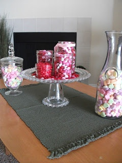 Elegantly understated valentine candy home decor for B day decoration at home