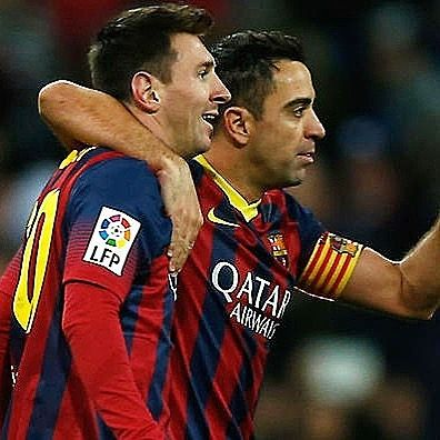 Xavi: They had already told me that a really good Argentine player was coming from the academy. They had told me his name but I didnt remember it. So when I saw him in training he was 16 years old but it was already apparent. We were doing one-versus-one training exercises with Lilian Thuram and Carles Puyol. And we were saying Damn this player is 16 and he's dribbling past professional defenders. You already knew he was different. You could see he had innate quality going one-against-one he…