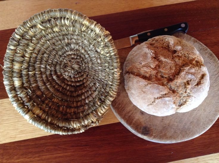 Some fun making dough baskets and 1st loaf made in this one