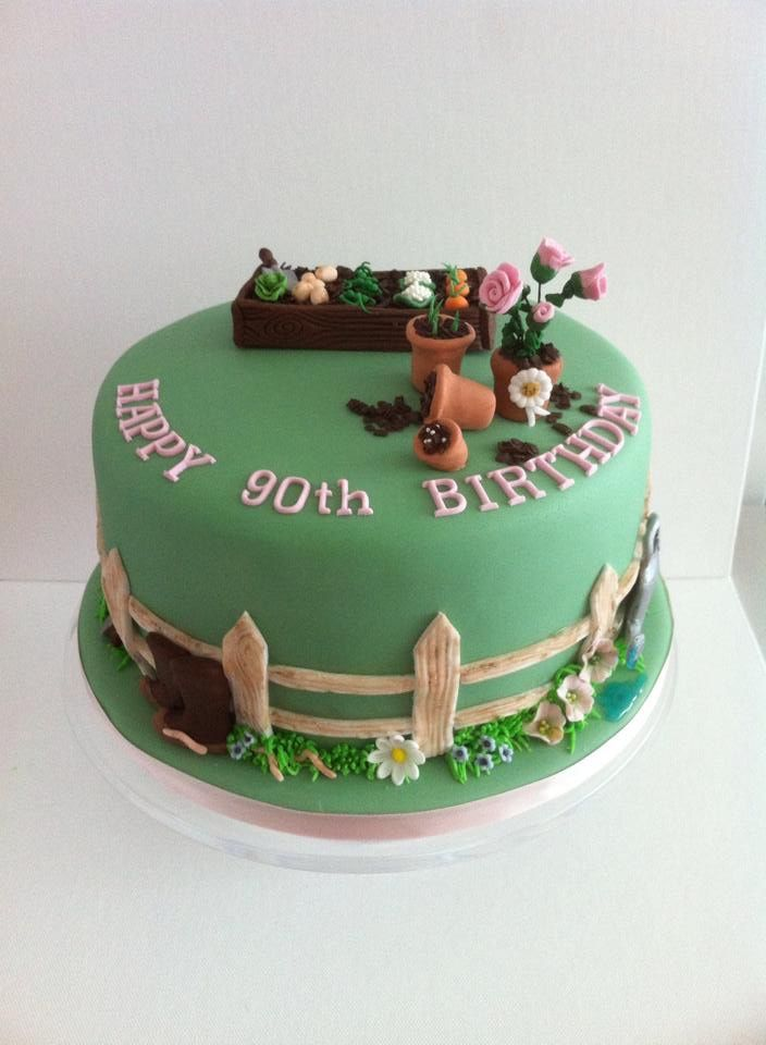 Garden Design Birthday Cake the 81 best images about gardening cakes and cupcakes on pinterest
