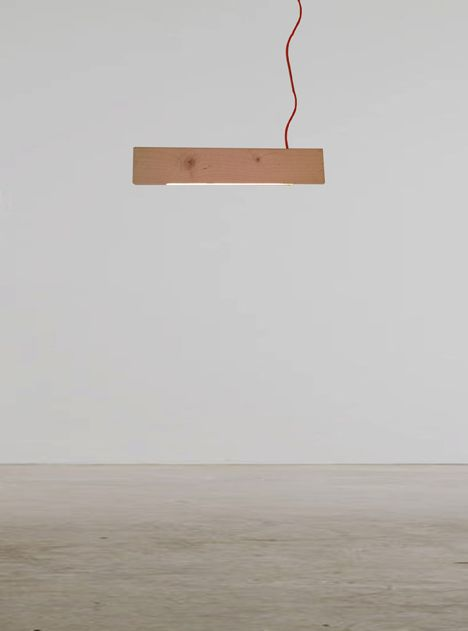 "Alexandra Burr's ""2×4"" lamp appears to defy gravity.    Pinned by your friends at oolooboard.com"