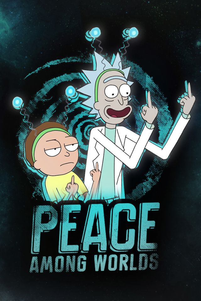 Wallpaper Rick and Morty iPhone Rick and Morty