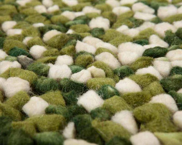 Rectangle Reyansh Felted Woolen Yarn Rug