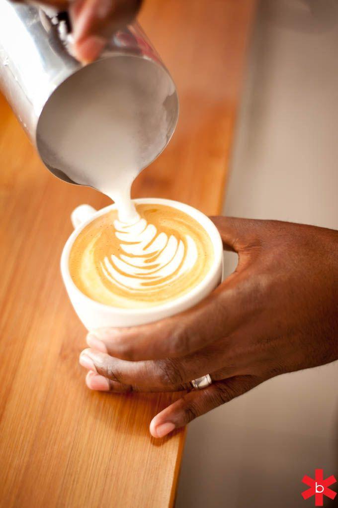 Textured Milk, Latte Art, Rosetta