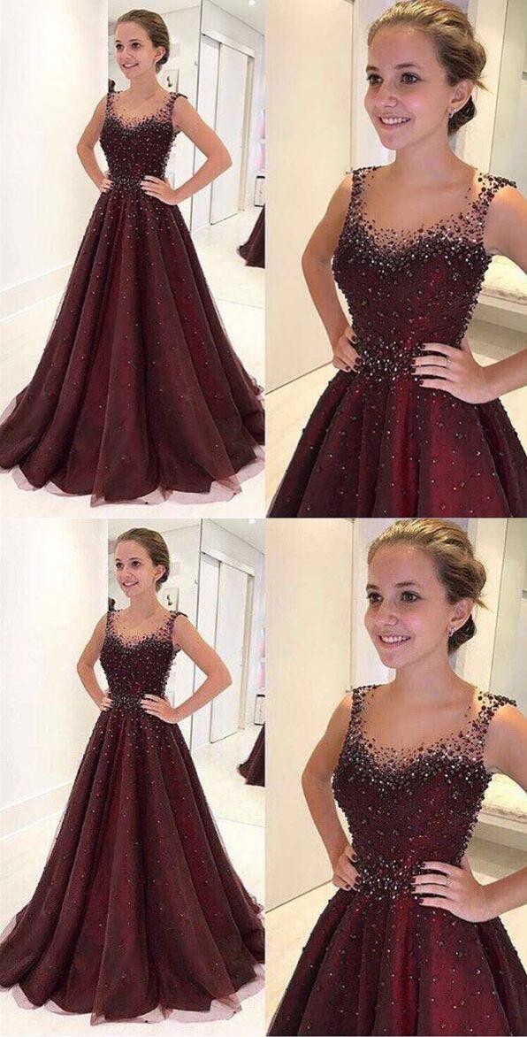 2018 prom dress,burgundy prom dresses,evening dress