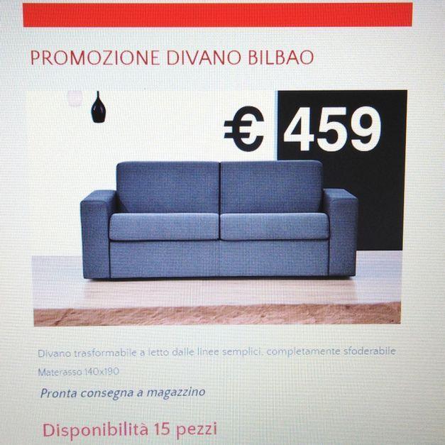 Promo Divano Letto Bilbao 3 posti | Offerte divani | Divano ...