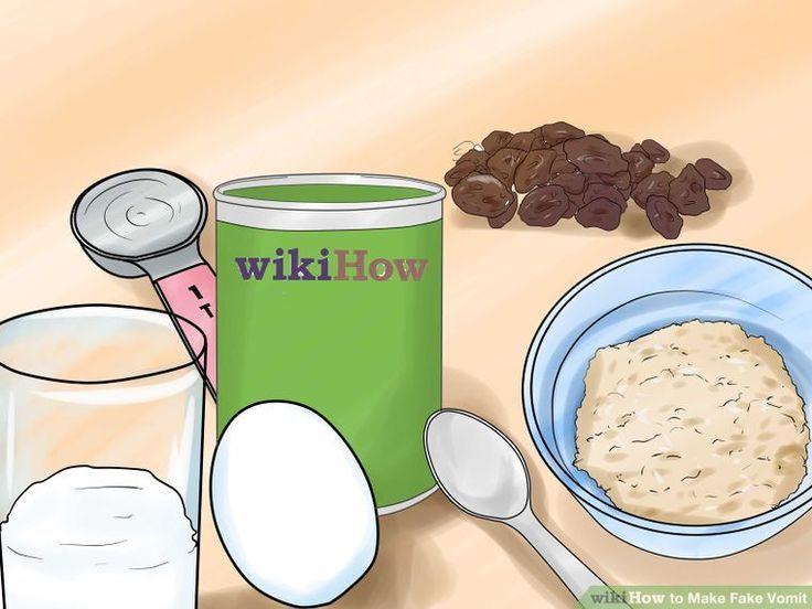 14 Ways to Make Fake Vomit - wikiHow