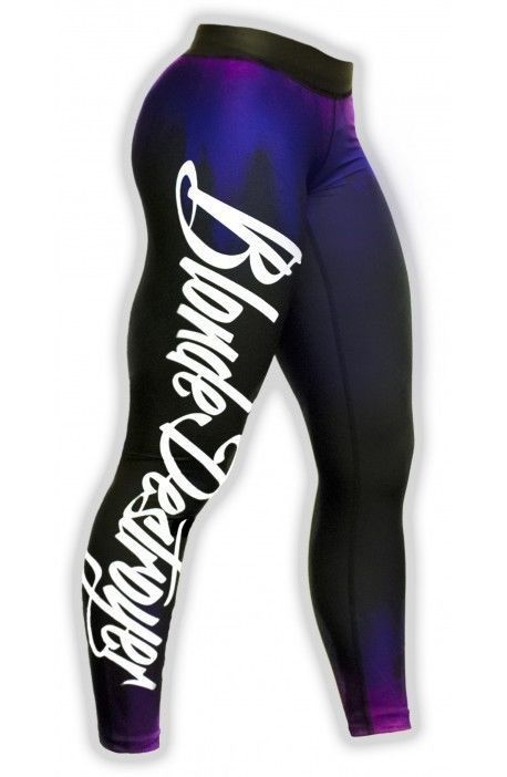 Blonde Destroyer Women s fitness leggings/ gym tights /sport pants size M Purple