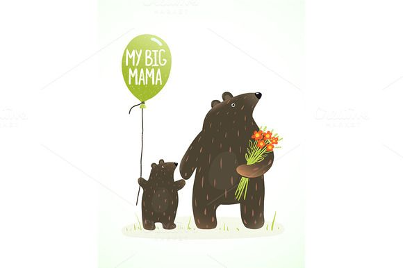 Check out Mother Bear by Popmarleo Shop on Creative Market