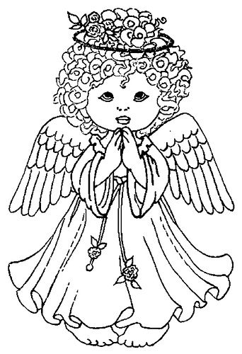 44 best Angeles images on Pinterest - best of easy coloring pages for christmas