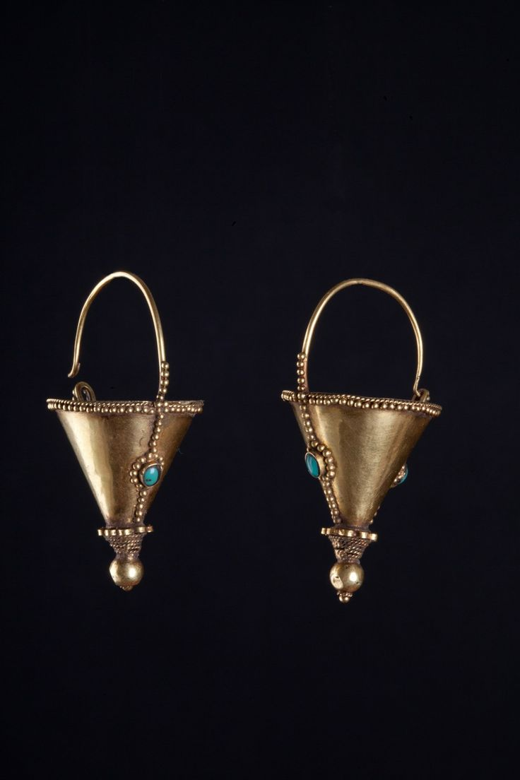 Gujarat Earrings, India 1900