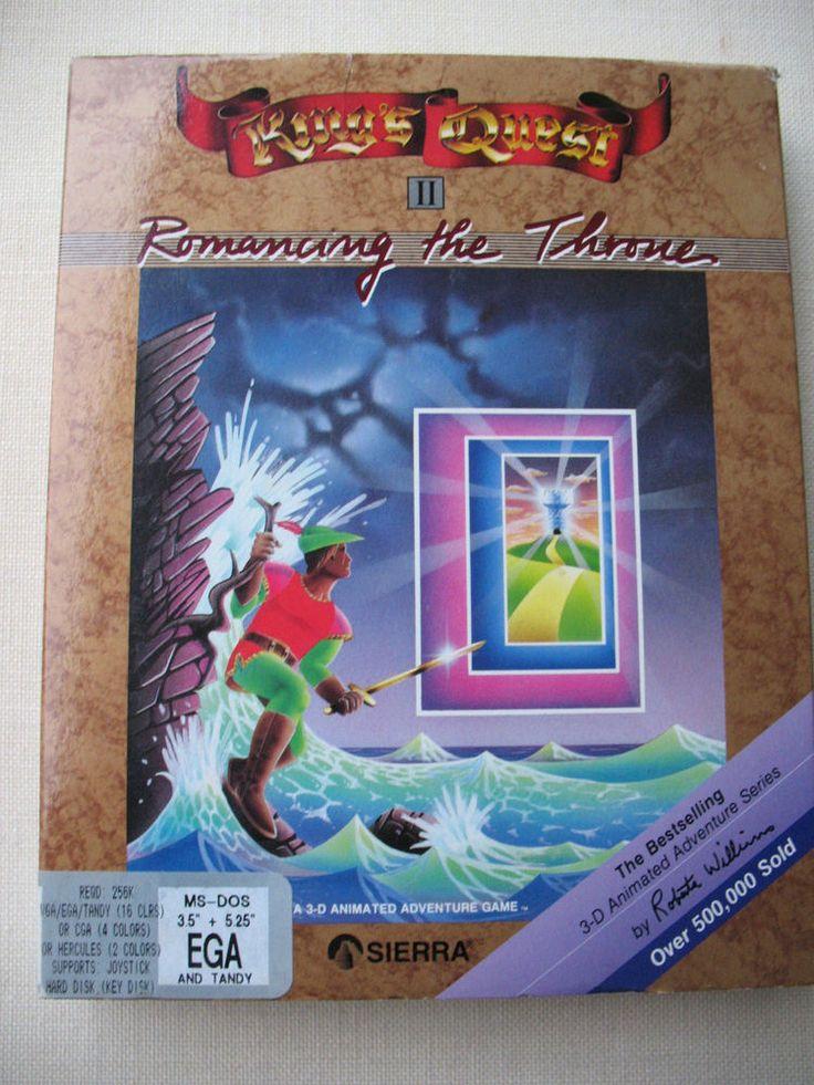 "VTG Sierra King's Quest 2 Big Box IBM PC MS-DOS 3.5"" EGA /TANDY Sierra Online  #Sierra"