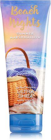 Beach Nights - Summer Marshmallow Ultra Shea Body Cream - Signature Collection - Bath & Body Works